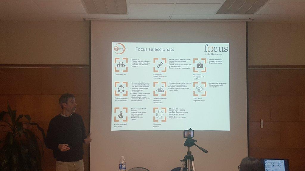 Presentació dels Focus de l'RSE a Catalunya davant representants del món sanitari i social
