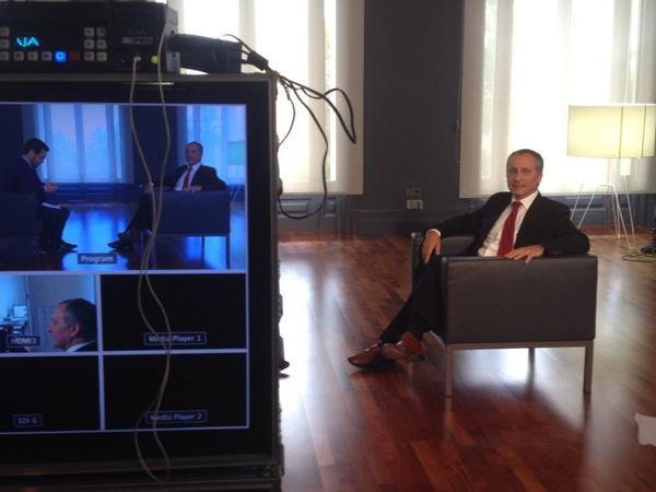 José Antonio Lavado des de darrere de les càmeres