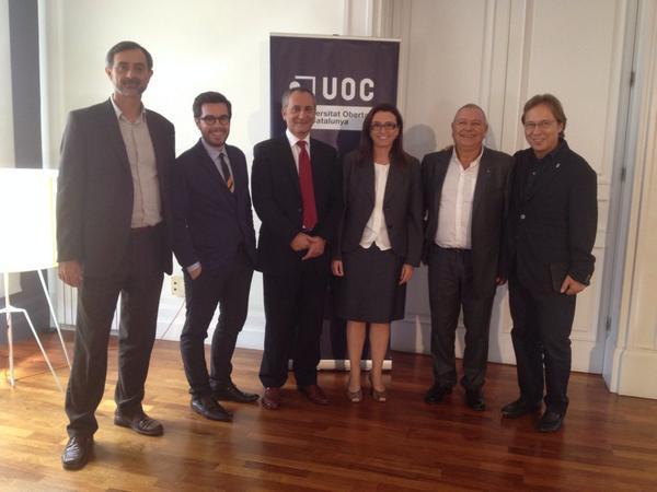 Els protagistes del material audiovisual: Canyelles, Aira, Lavado, Mullor, Lloreda i Santacreu