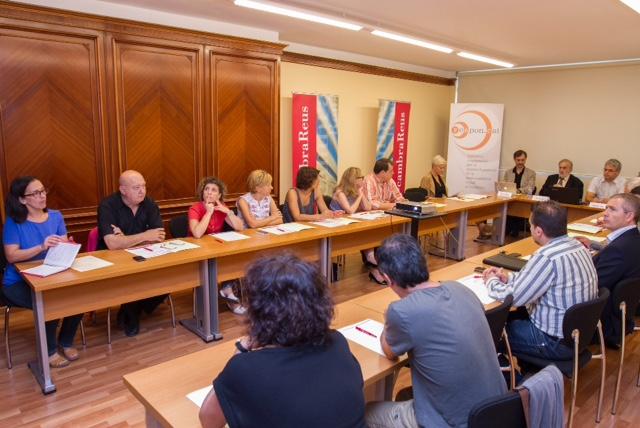 Josep Maria Canyelles, Joan Josep Sardà, Xavier Vilà i Juan Martínez de Marañón van intervenir a l'acte de presentació de Respon.cat a Reus