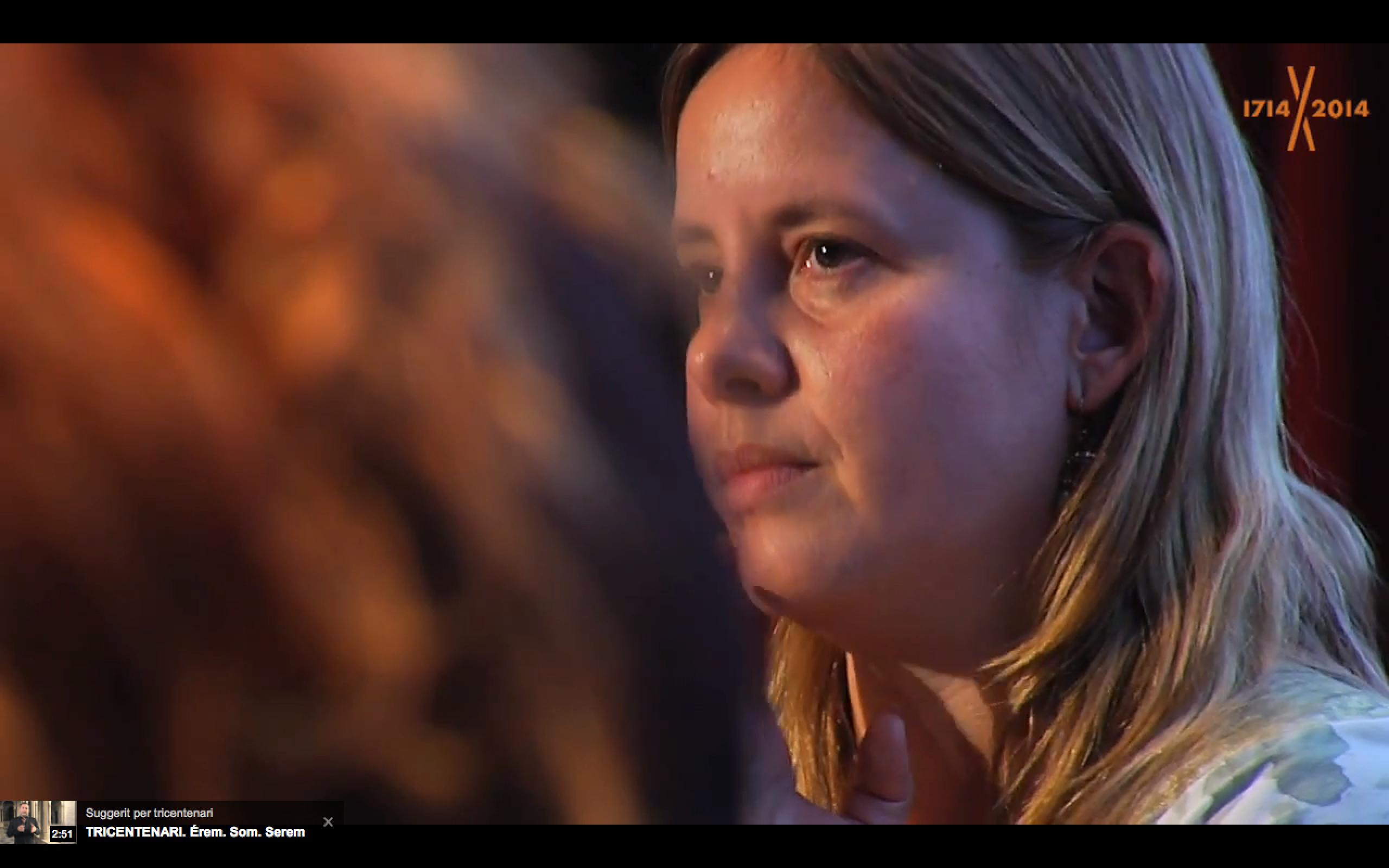 Emma Nadal (KH Lloreda) escoltant els projectes socials