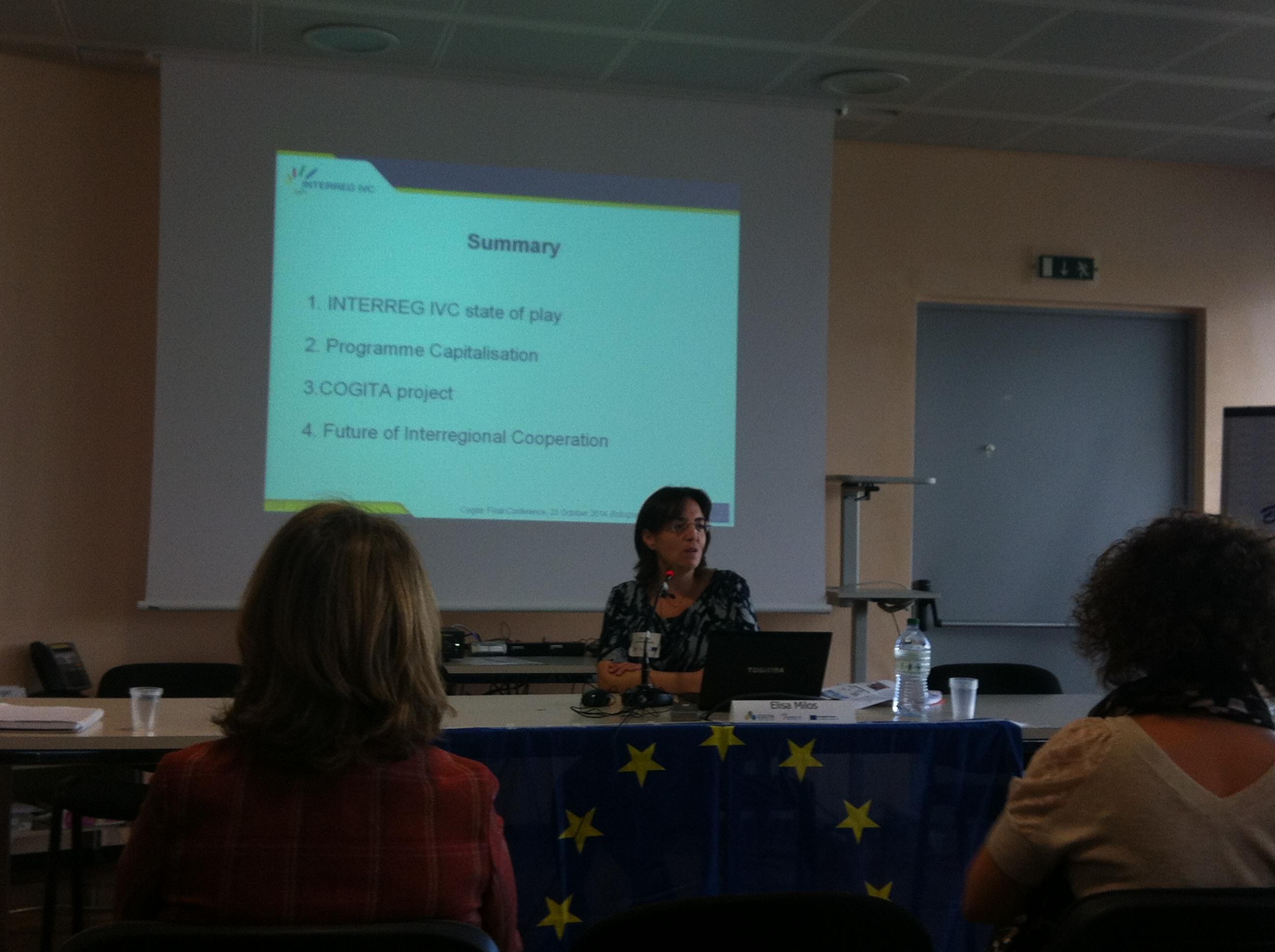 Elisa Milos, Joint Technical Secretariat INTERREG IVC