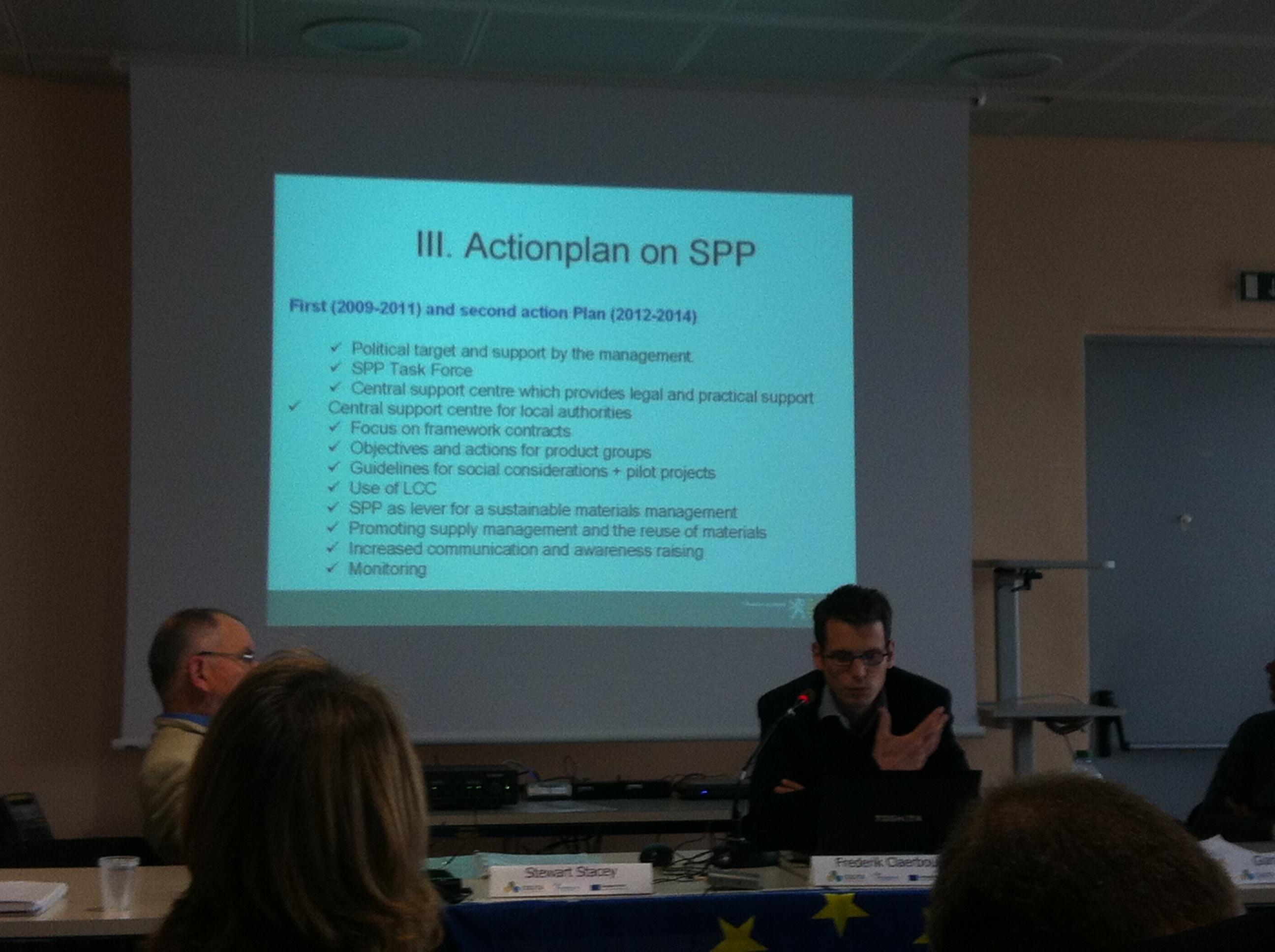 Frederik Claerbout, Equip de Desenvolupament Sostenible, Serveis per a la Política del Govern General, Govern de Flandes