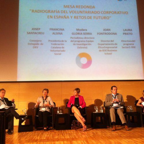 Està tenint lloc el debat sobre el voluntariat corporatiu al Congrés Iberoamericà al CosmoCaixa