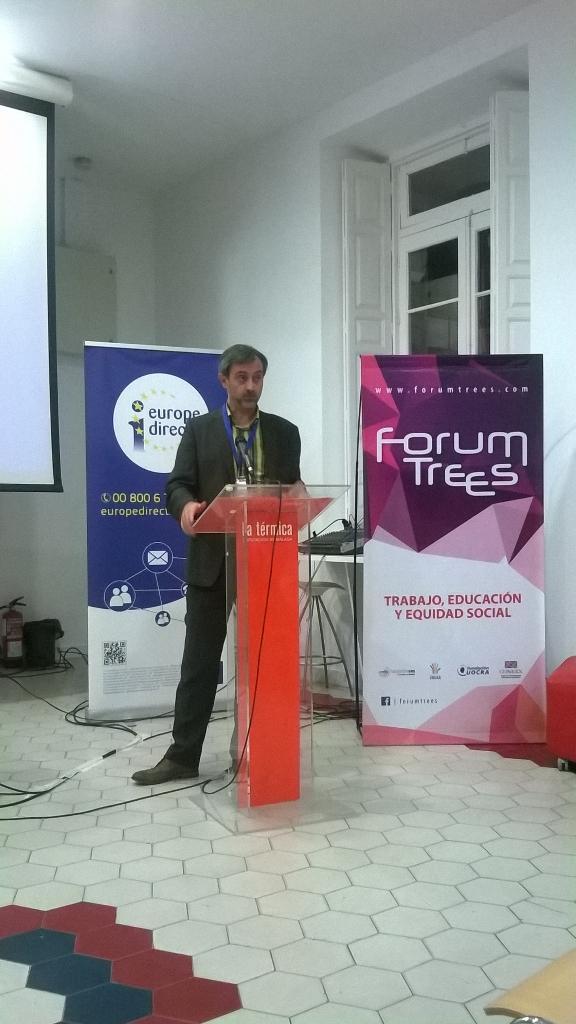 Josep Maria Canyelles intervenint a Màlaga al Forum Trees