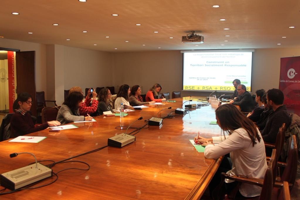 Participants a la Jornada Respon.cat a Lleid (19-12-2014)