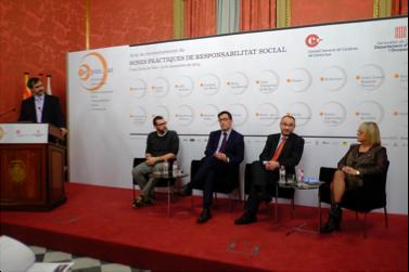 Conversa a quatre: Queta Domènech, Daniel Ortiz, Xavier López, Ivan Álvaro i modera Josep Maria Canyelles