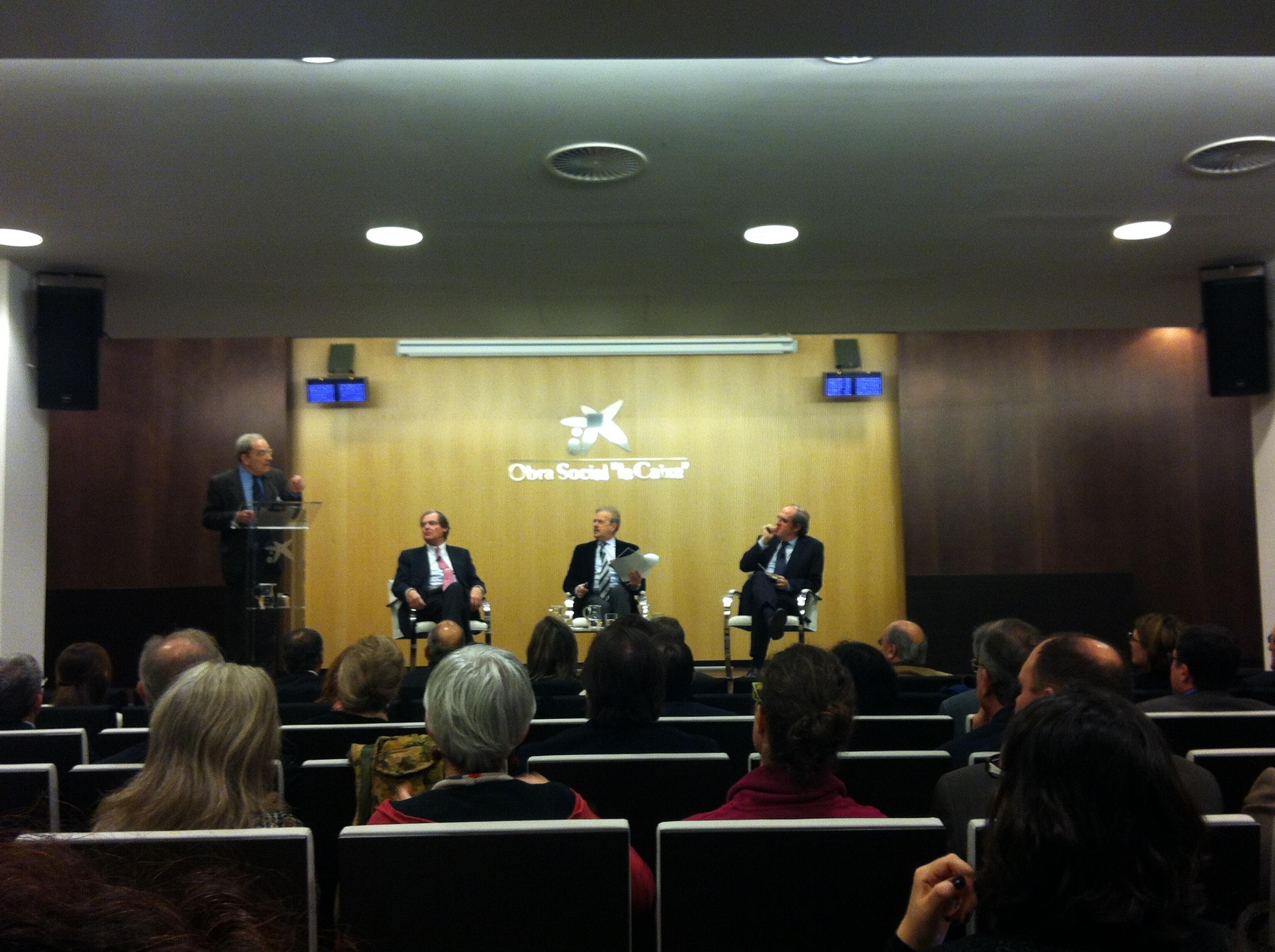 """Jornada de Diàleg sobre """"L'ètica aplicada a la funció directiva"""", amb Ángel Gabilondo, Francisco Belil, Manuel Campo Vidal"""