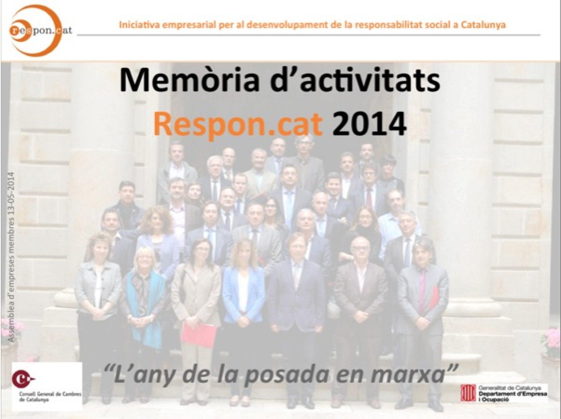 Memòria d'activitats 2014 de Respon.cat