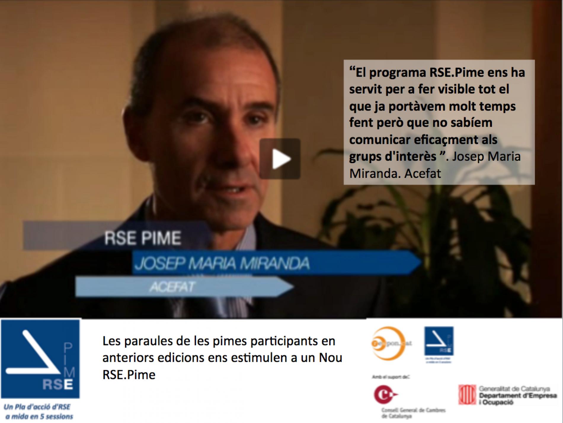Participants RSE.Pime us conviden a participar a la nova edició