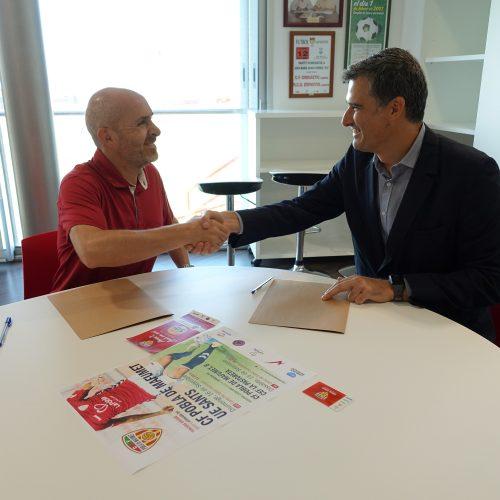 Carburos Metálicos signa un acord de col·laboració amb la Fundació Escola de Futbol Pobla de Mafumet