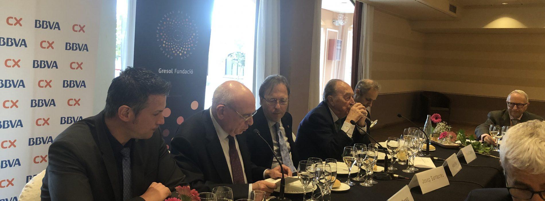 """""""Hem de tenir un compromís amb el desenvolupament harmònic del nostre entorn"""", segons Santacreu, convidat de la Fundació Gresol"""