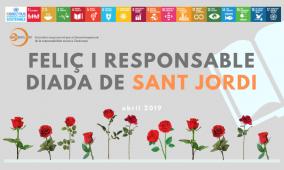 Feliç i reponsable Diada de Sant Jordi