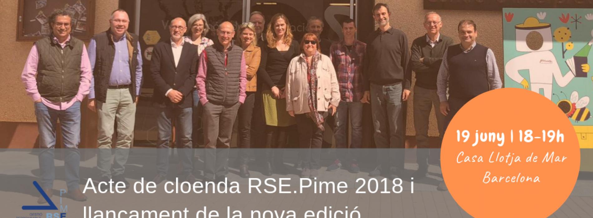 Acte de cloenda de l'RSE.Pime 2018 i llançament de la nova edició