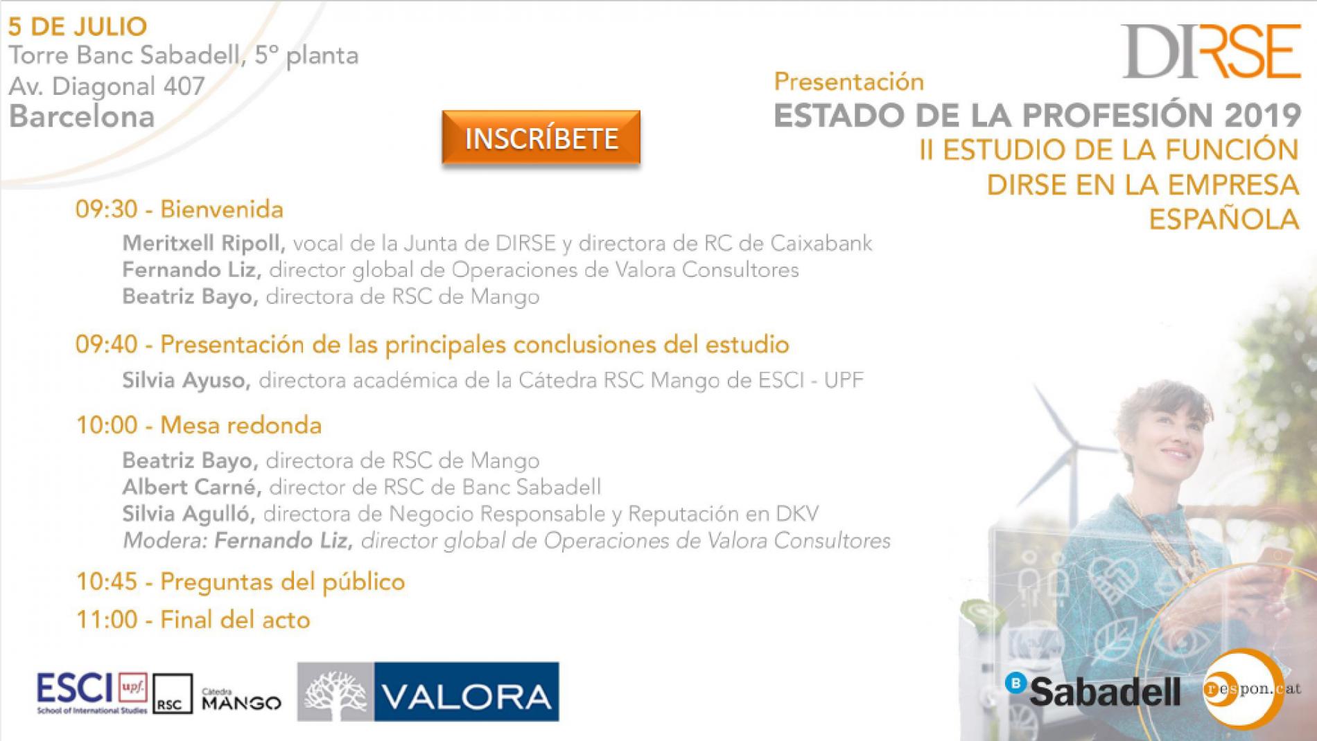DIRSE organitza una jornada de presentació del II Estudi de la funció DIRSE a l'empresa espanyola
