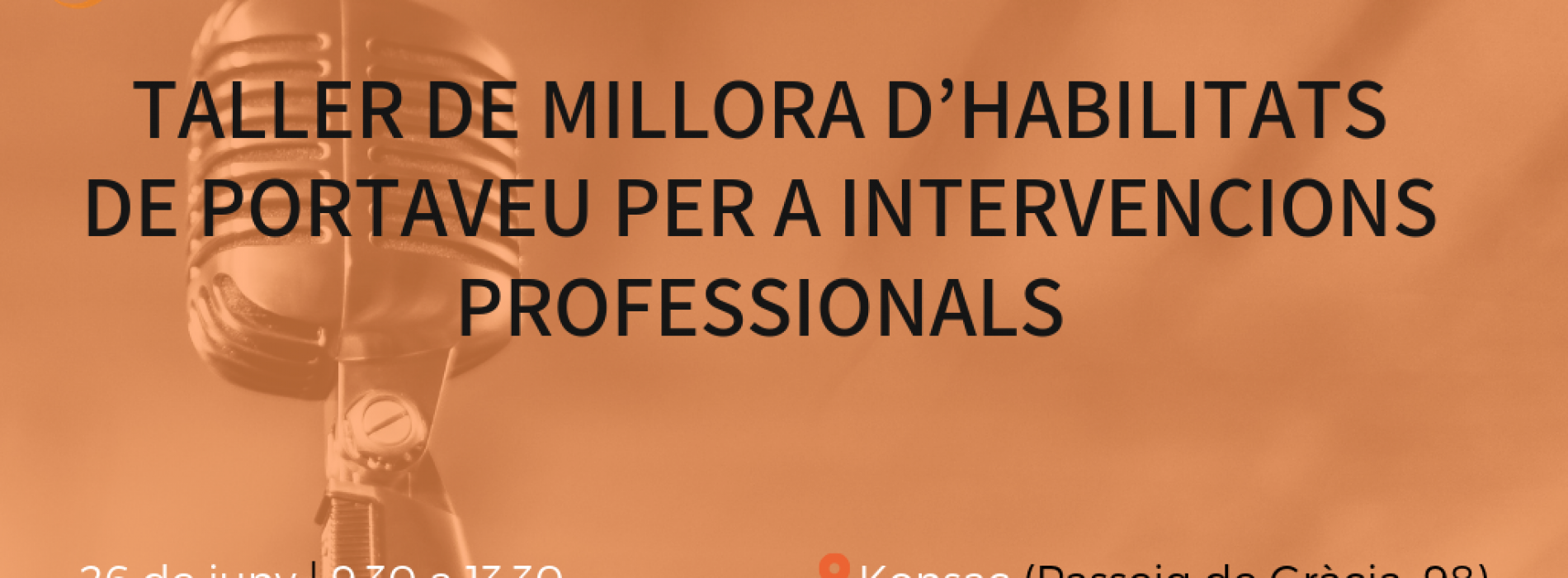 Taller de millora d'habilitats de portaveu per a intervencions professionals
