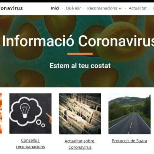 Suara habilita un web especial amb informació sobre Coronavirus i un telèfon d'atenció ciutadana