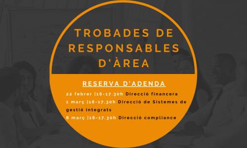 22 FEBRER, 1 i 8 MARÇ – Trobades en línia de responsables d'Àrea d'empreses membres de Respon.cat