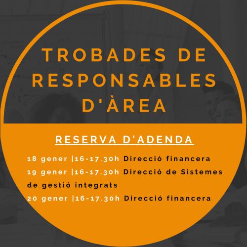 25 GENER i 1  i 8 FEBRER- Trobades en línia de responsables d'Àrea d'empreses membres de Respon.cat