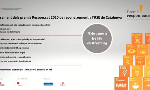 Josep Santacreu rebrà el Reconeixement personal per la seva trajectòria en RSE en la cinquena edició dels Premis Respon.cat