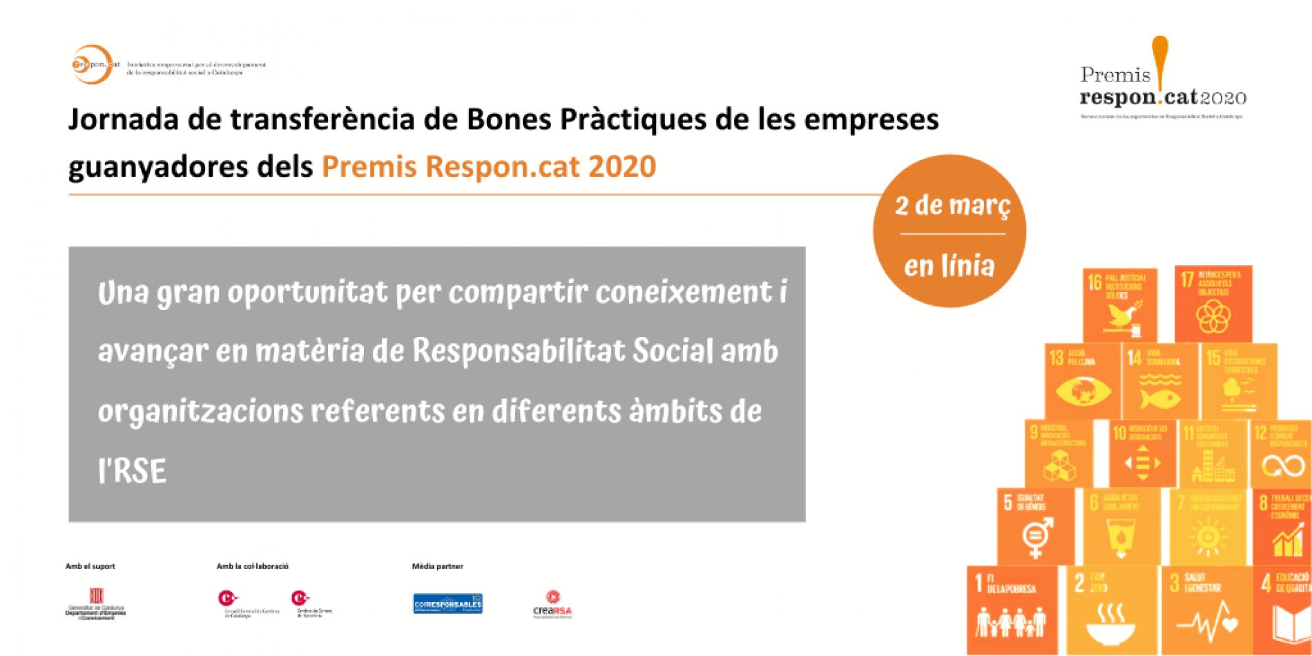2 de MARZO – Jornada virtual de Transferencia de Buenas Prácticas de las empresas ganadoras de los Premios Respon.cat 2020