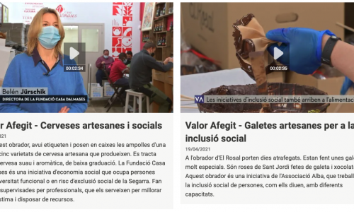Grup Alba i Casa Dalmases al Valor Afegit de TV3