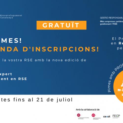 Atenció Pimes: Darrera oportunitat per inscriure's a l'RSE.Pime 2021-2022